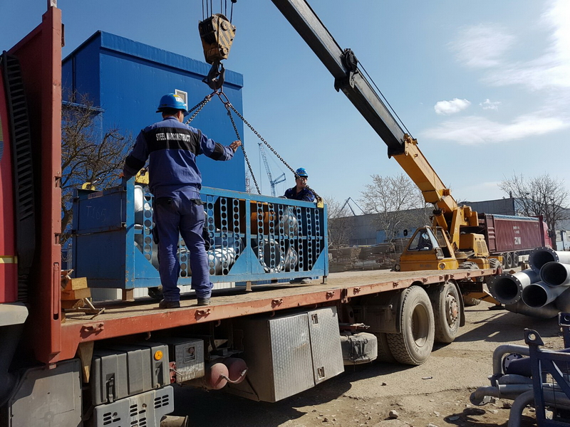 SteelMarconstruct: Delivery of pipes to ships under construction or repair in the shipyard